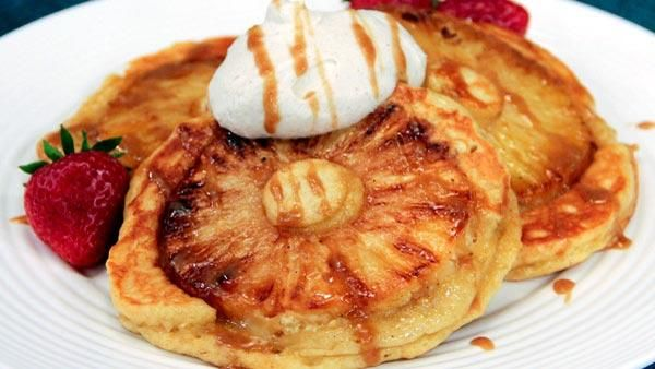 Upside Down Pineapple Pancakes   Never Trust a Skinny Chef!   Pintere ...