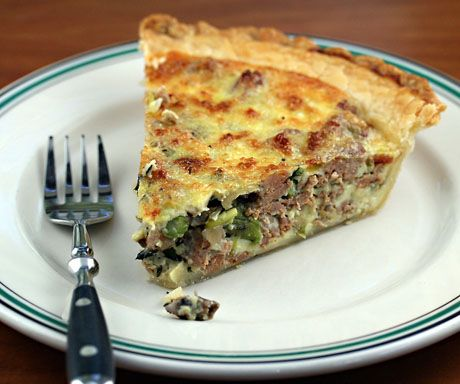 asparagus, mushroom and sausage quiche | Showers and Brunches. | Pint ...