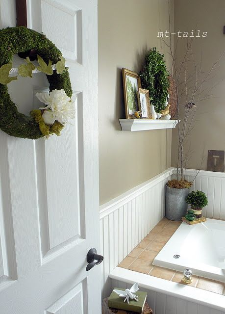 Embellishing the bathroom, nice. DIY Botanicals