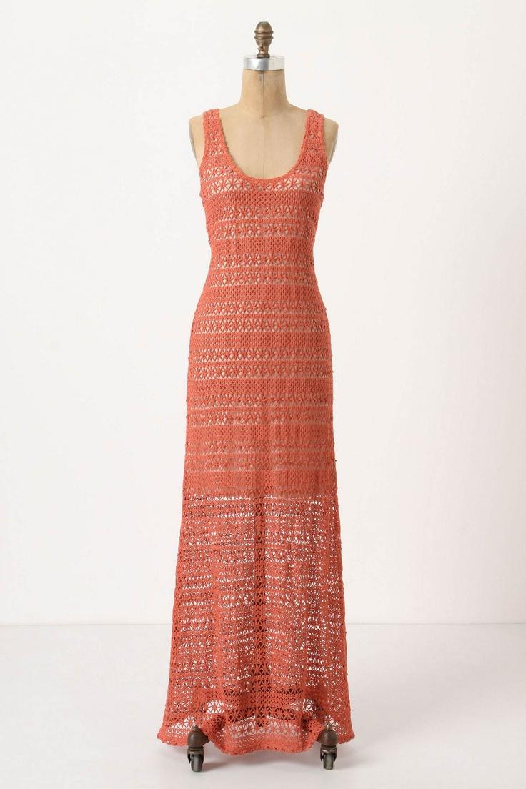 Crochet Maxi Dress : Sundown Crochet Maxi Dress, Anthro Style Inspiration Pinterest