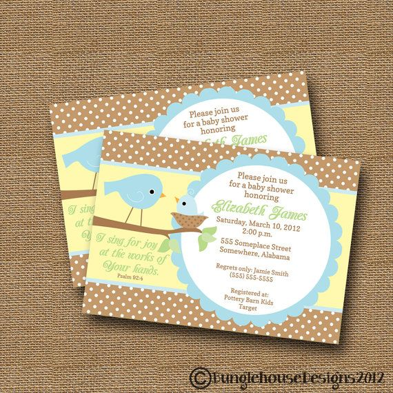 bird baby shower invitation diy printable baby boy christian scriptur