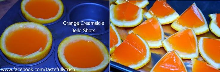 Orange Creamsicle Jello Shots www.facebook.com/tastefullytrish
