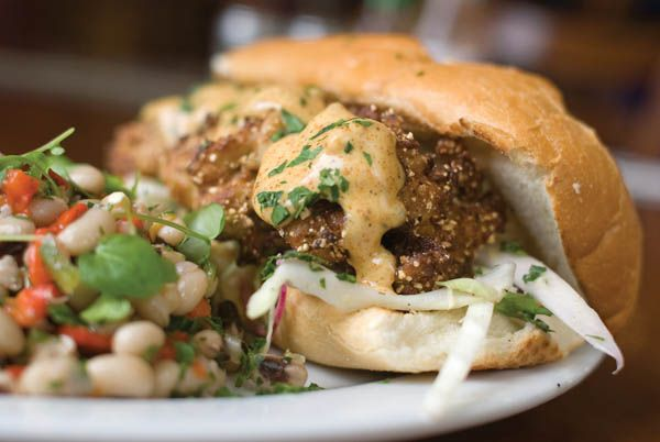 fried oyster po' boy | good enough to eat--summer fresh | Pinterest