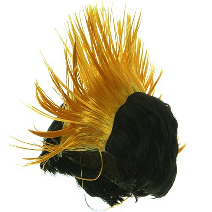 Red And Yellow Mohawk Wigs 107