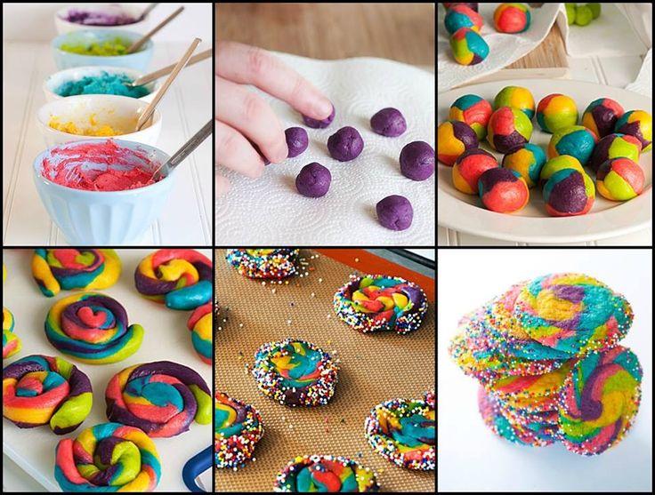 Rainbow pinwheel cookies   Cookies Worth Baking   Pinterest