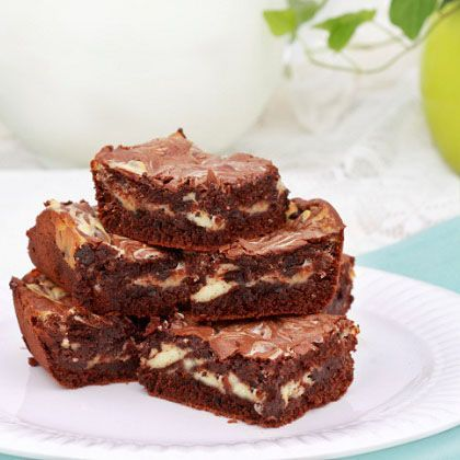 ... of brownies, but these sound delicious! Marbled Cream-Cheese Brownies