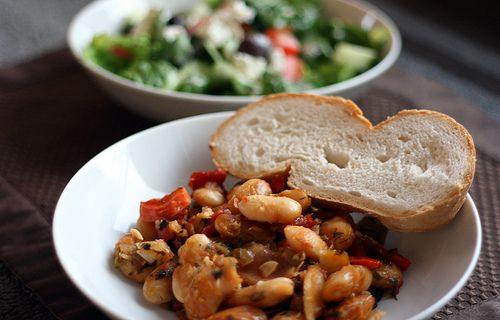 gigantes plaki - greek baked beans made with butter beans. Ill prob ...