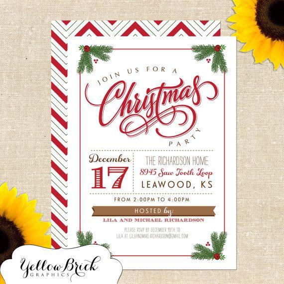 Mistletoe christmas party invitation diy printable for Christmas invitation ideas
