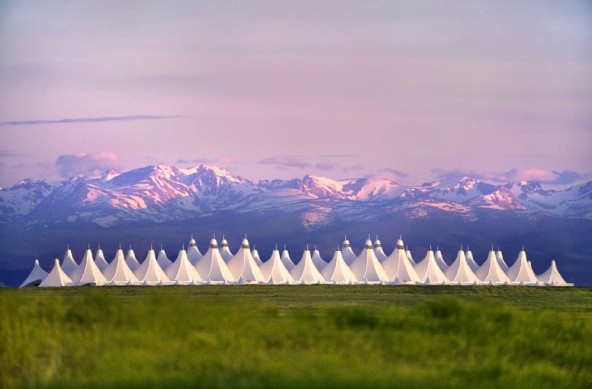 Denver International Airport designed by famed architect the Colorado-based Curt Fentress