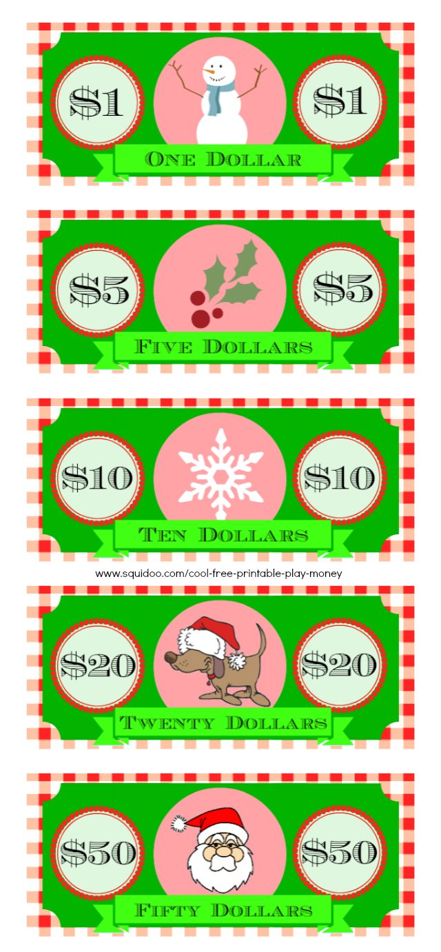 Free Printable Play Money Kids Will Love | Fake Monopoly Bills & Coins ...