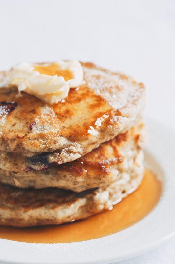 blueberry oat pancakes | pancakes, waffles & french toast | Pinterest