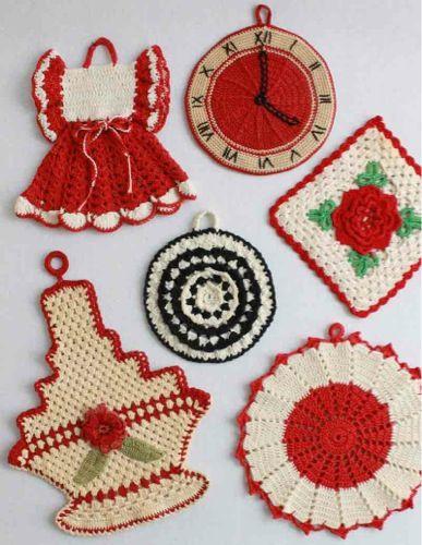 Crochet Patterns Vintage Potholders : Vintage Potholders