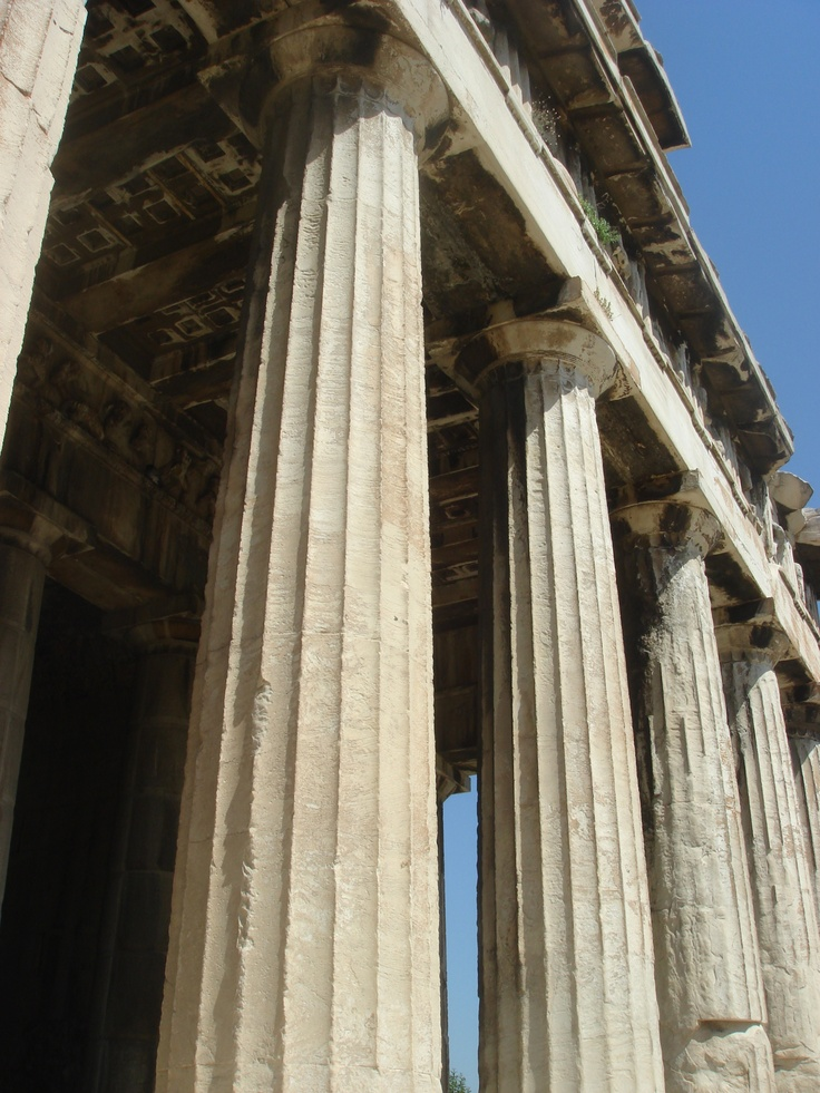 greek columns ancient greeks pinterest