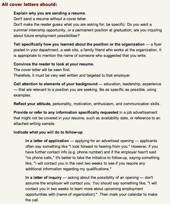 Cover Letter Inquiry Employment Possibilities