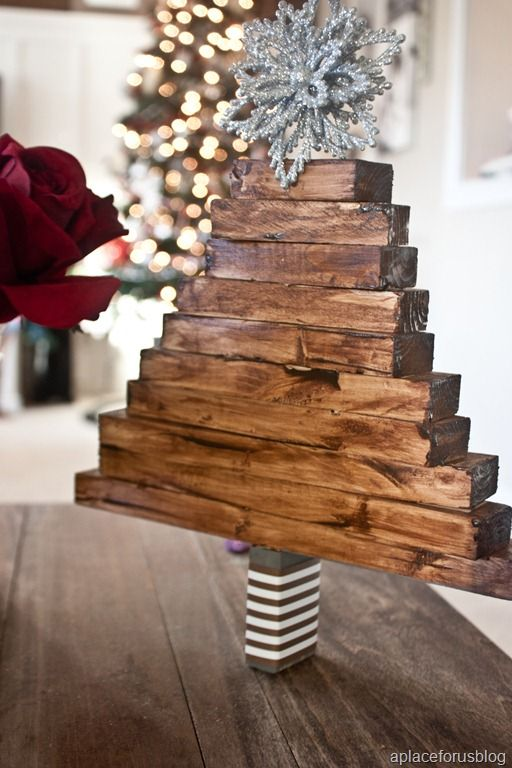 Wooden tree wood crafts pinterest for Wooden christmas crafts to make