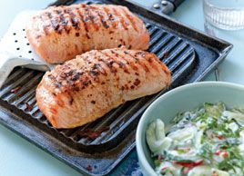 Marinated Salmon with Cucumber Salad | Creative Clean (Recipes) | Pin ...