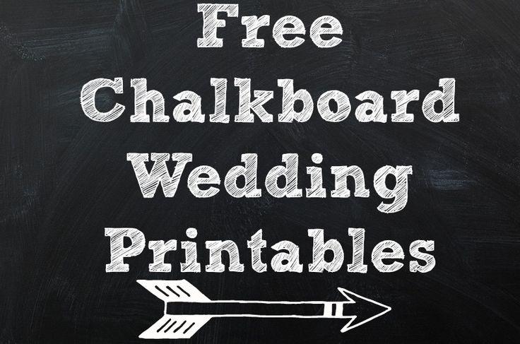 Printable chalkboard table numbers for Printable chalkboard signs