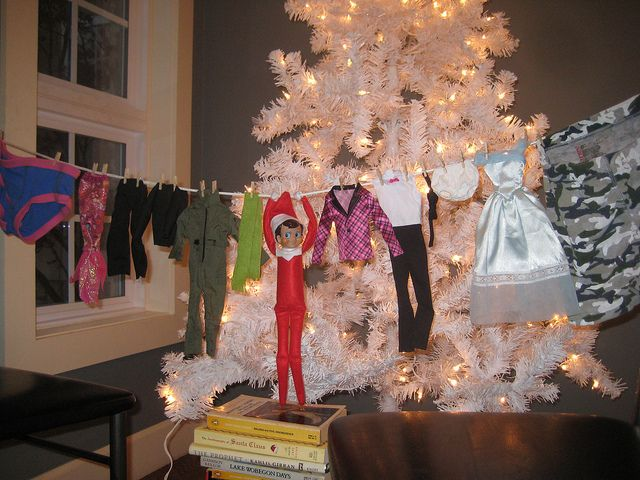 Elf on the Shelf out to dry