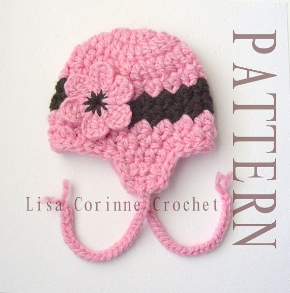 Baby Girl Hat Crochet Pattern - Easy PDF - Cloche Hat With ...