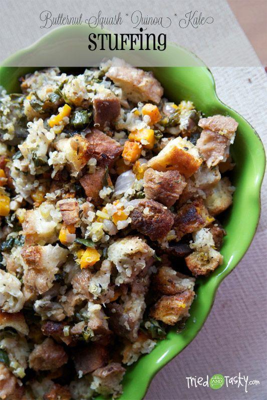 Butternut Squash | Quinoa | Kale Stuffing Recipe #food #recipes