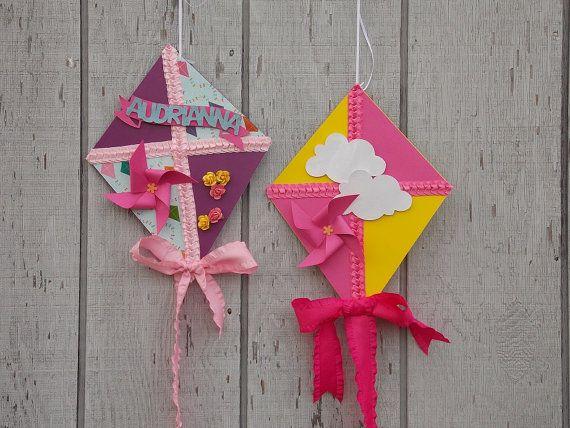 Whimsical decorative kites kites birthday banner kites for Decoration kite