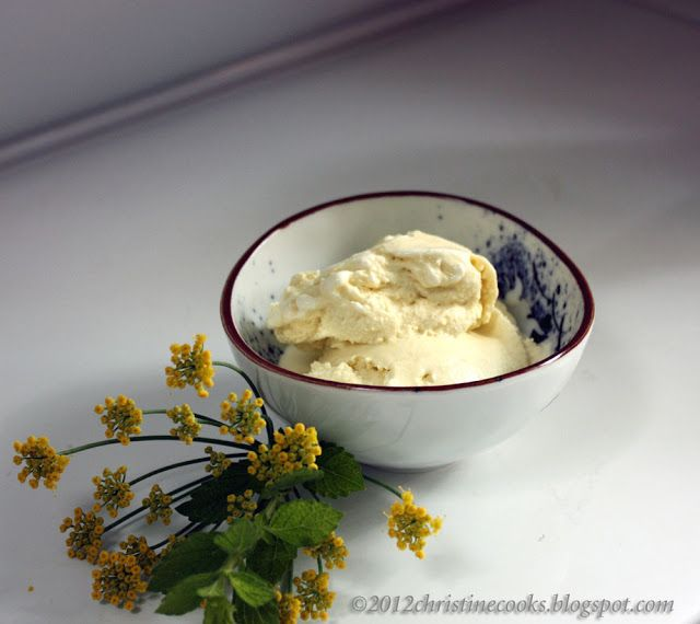 Christine Cooks: Fennel Blossom and Lemon Balm Ice Cream with Absinthe