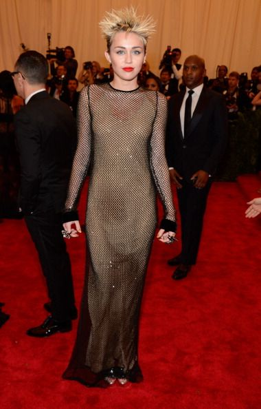 Miley Cyrus punk style in Marc Jacobs at the Met Gala 2013