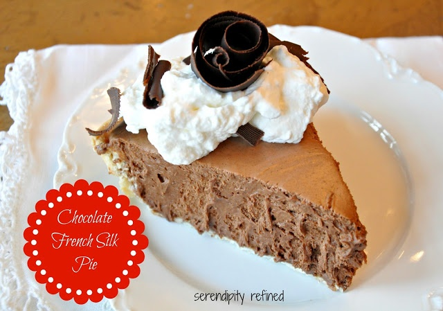 Chocolate French Silk Pie with Chocolate Curls Recipe by Serendipity ...