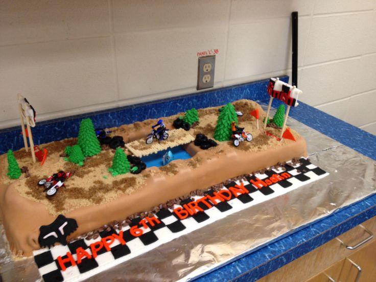 Cake Decorating Dirt Bike Track : Dirt bike track cake Birthday cakes/fun cakes Pinterest