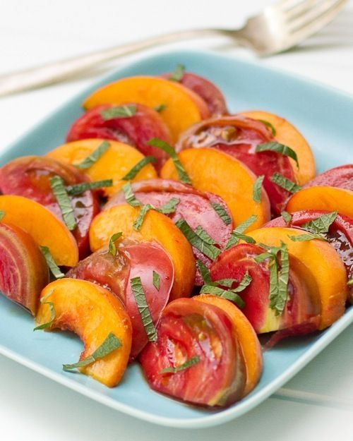 heirloom tomato and peach salad | buen provecho ! | Pinterest