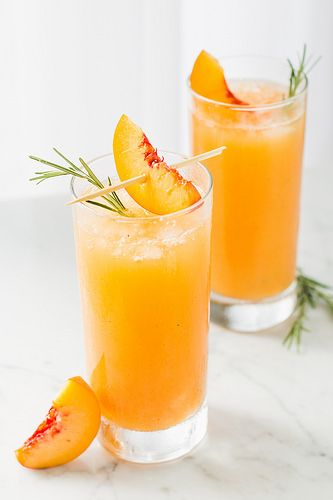 Peach & Rosemary Prosecco by WillCookForFriends, via Flickr