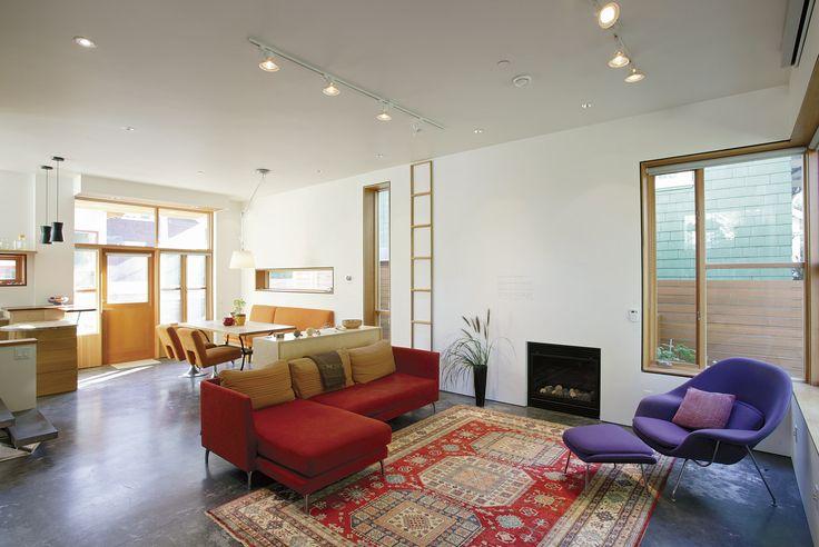 Modern open floor plan best new home fine homebuilding for Fine homebuilding houses