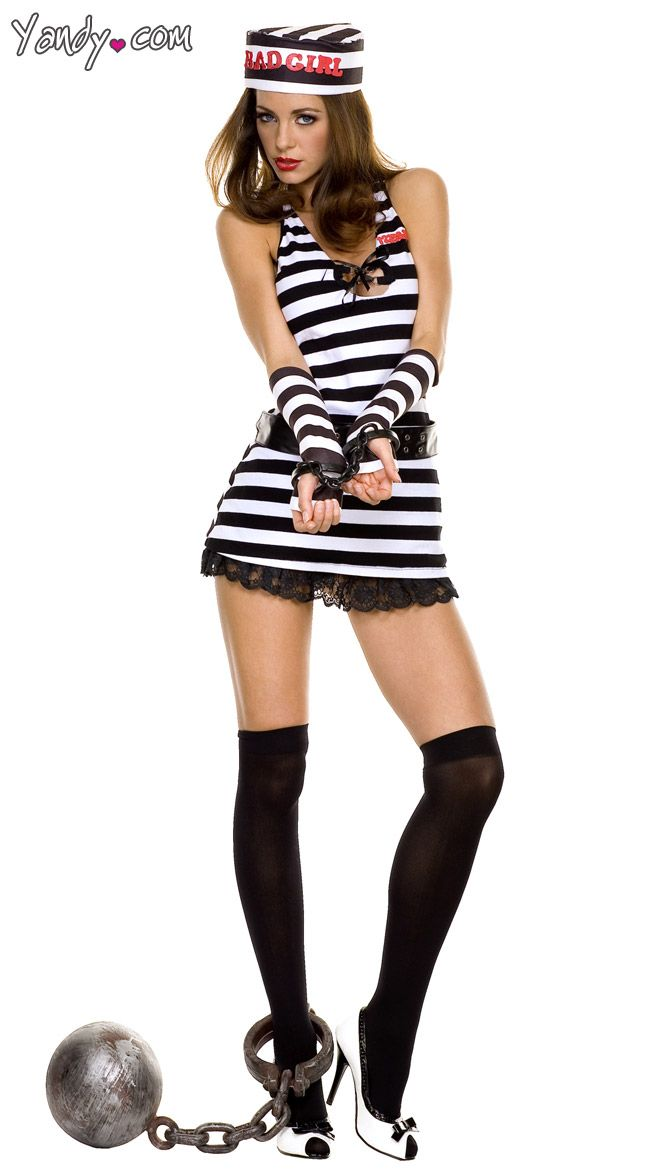Sexy Prison Inmate Costume | Career Costumes | Pinterest