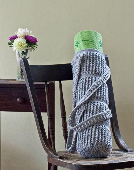 Crochet Grocery Bag Mat Pattern : Yoga Mat Bag Cable Links Crochet Pattern