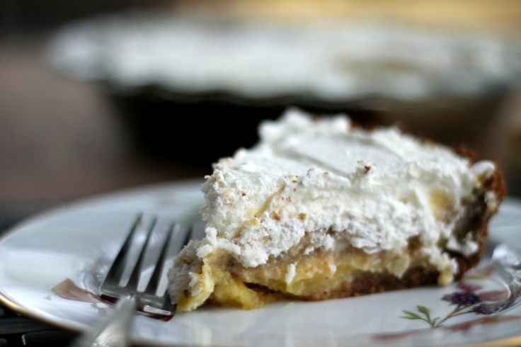 Lemon Cream Pie with Pecan Gingersnap Crust http://www ...