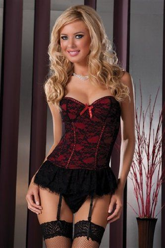 Seven Til Midnight Women's Victorian Lace Bustier