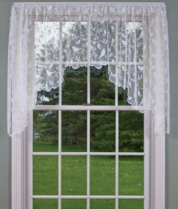 bird song lace swag bedroom curtains curtains swags