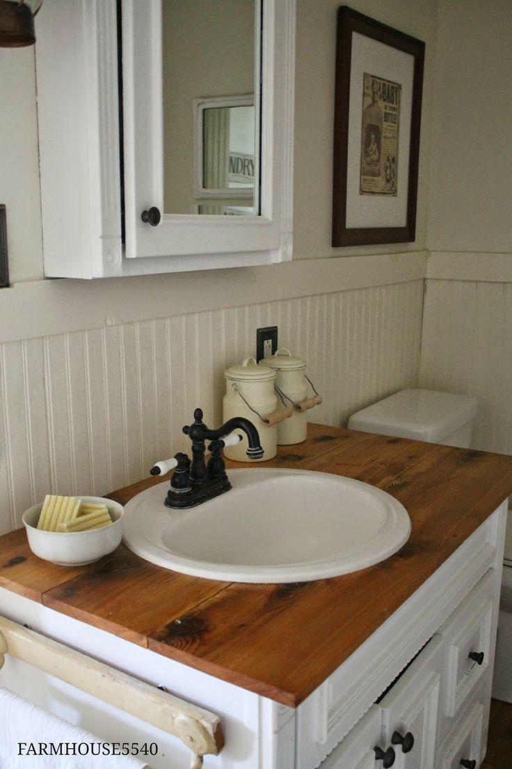 Farmhouse Bathroom Powder Rooms Pinterest