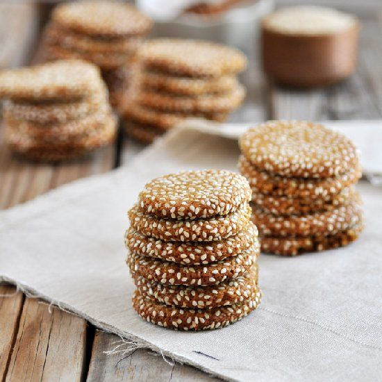 Honey Tahini Almond Cookies. | Omnom Shweet Shtuff | Pinterest