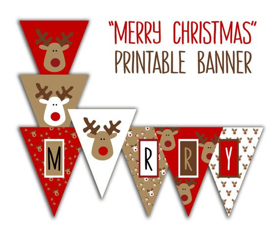 Simplicity image with printable merry christmas banner