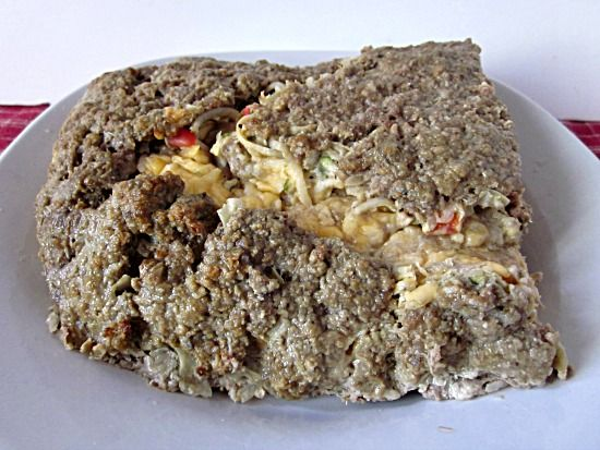 From Grandma Loy's Kitchen: Potato Zucchini Meat Loaf Roll