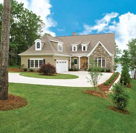 Country french exterior home exteriors curb appeal for Country home exteriors