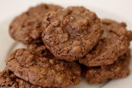 Flourless Double-chocolate Walnut Cookies