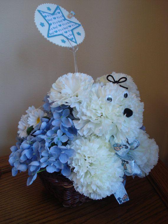 baby boy nursery flower arrangement baby boy gift baby shower