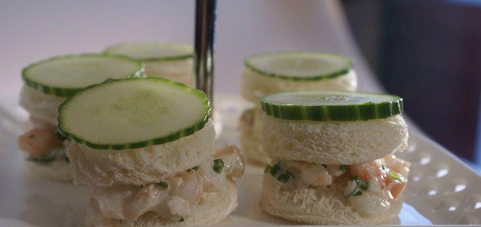 Shrimp and cucumber sandwiches Recipes   Ricardo