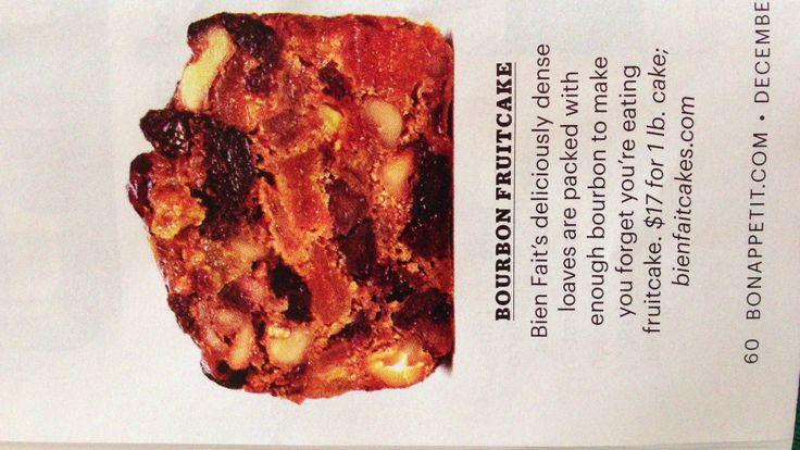 Bourbon soaked fruit cake | Wonderful Pressies | Pinterest