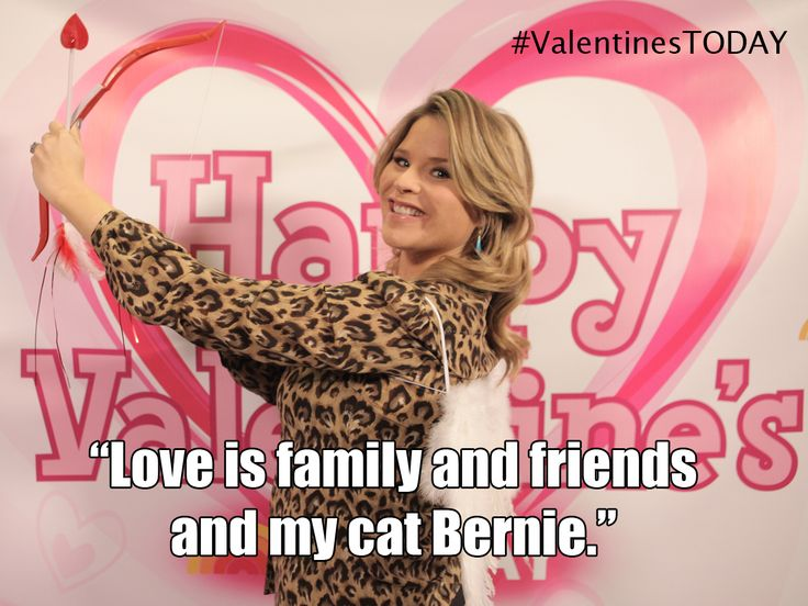 Jenna Bush Hager at the TODAY photo booth. Share what love is to you with #ValentinesTODAY.