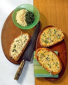 crispy Parmesan-Marjoram Toasts | food :) | Pinterest