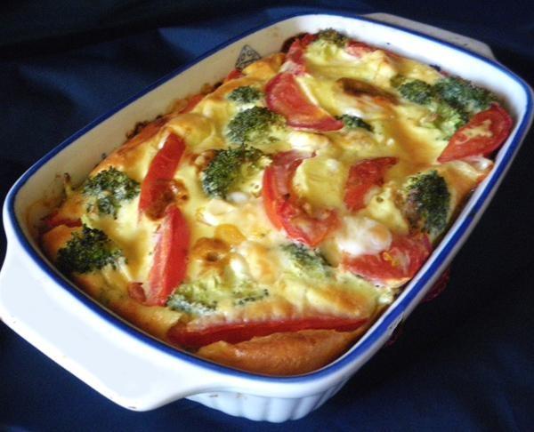 ... broccoli... Might add sautéed spinach, onion, smoked Gouda, breakfast