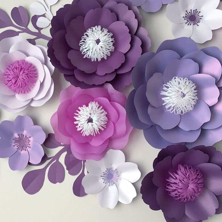 Бумажные цветы своими руками на стену и 27